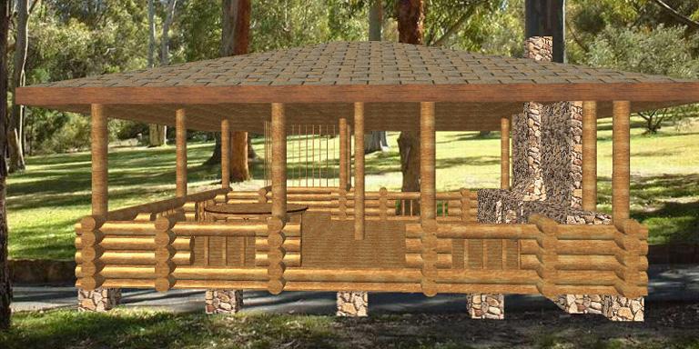 Проекты беседок-барбекю и дровниц портал для электрокамина dacota